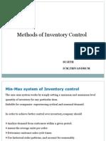 Inventory Control Techniques