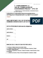 1ER. EXAMEN DEL CURSO VIRTUAL DE PROYECTOS DE INVERSION PÚBLICA 2013