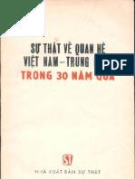 Sự Thật Về Quan Hệ Việt Nam Trung Quốc Trong 30 Năm Qua - Phạm Xuyên, 110 Trang