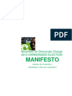 "Movement for Democratic Change (Ncube) 2013 Election Manifesto ""Actions for Devolution- Devolution is the New Revolution"""