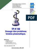 tpn°2 - dosage des protéines plamatique