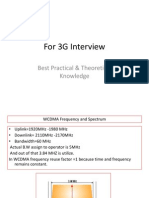 3G Importants Knowledge for Interview Crack