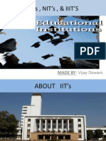 About IIT's , NIT's & IIIT's