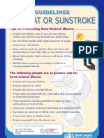 Guidelines for Heat or Sunstroke