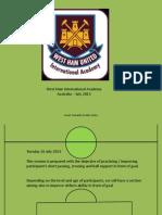 West Ham United International Academy Session 2