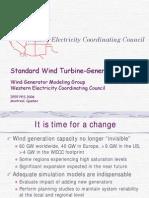 Standard Wind Turbine Generator Models