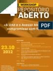Cartaz Acesso-Aberto LE@D |UAb