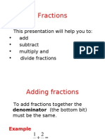 4 Rules of Fractions1640