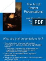 The Art of Patient Presentations