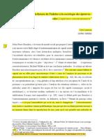 De La Theorie de l'Habitus a La Sociologie Des Epreuves (Lemieux)
