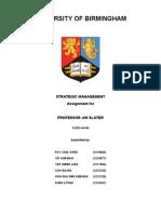 119798975 Group 12 Strategic Management Assignment FINAL COPY