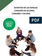Guía el papel preventivo de las familias drogas