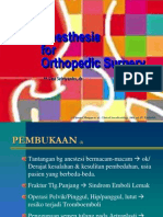 Anesthesia 4 Orthopedic Surgery Dwi