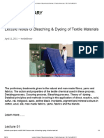 Lecture Notes of Bleaching & Dyeing of Textile Materials _ TEXTILE LIBRARY