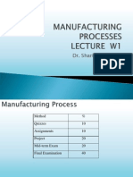 1 Introduction to Manufacturing
