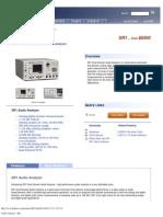 Audio Analyzer - SR1