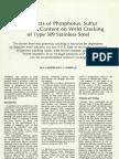 Sulfur and Phosphorous