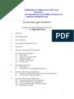 Format of Aiou Internship Report Marketing