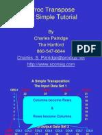 Proc Transpose