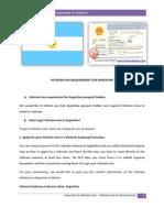 Vietnam Visa Requirement for Argentine