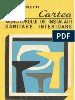Cartea muncitorului de instalatii sanitare interioare