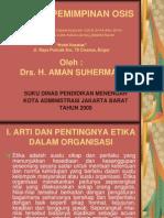 Etika Kepemimpinan Osis