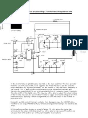 18152217 12V 600VA Inverter Project Using a Transformer