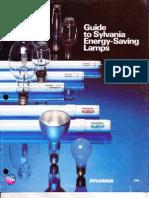 Sylvania Guide to Energy Saving Lamps Brochure 1980
