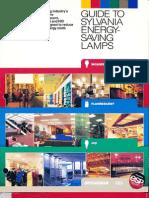 Sylvania Guide to Energy Saving Lamps Brochure 1986