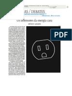 LASSANCE (2013) Os Defensores Da Energia Cara - Folha de S Paulo 3 Janeiro