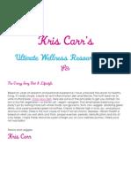 Kris Carr Ultimate Wellness Resource Guide v3