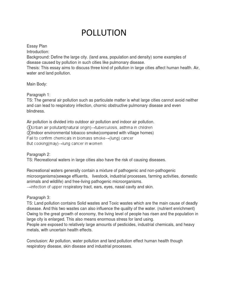 land pollution essay conclusion Air pollution, water pollution and noise pollution the dictionary definition of pollution is to make air, water, soil, etc dangerously dirty and not suitable for.