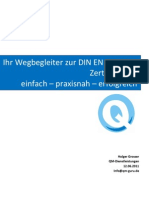 DIN en ISO 9001 Zertifizierung