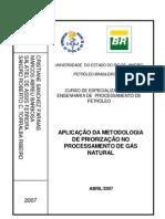 Aplicação da Metodologia de Priorização no Processamento de Gas Natural