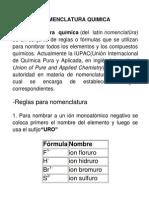 Nomenclatura de Quimica Redox