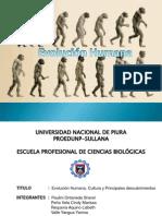 Evolucion Humana, Cultural y Principales Descubrimientos