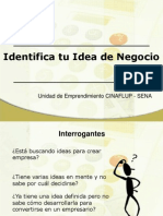 Generacion e Identificacion de Ideas de Negocios