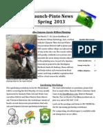 Claunch-Pinto News, Spring 2013
