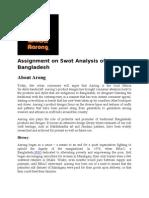 Swot Analysis of Aarong Bangladesh