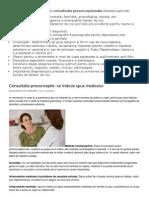 consultatia preconceptionala pregravidica