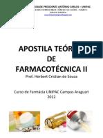 apostila teórica de farmacotécnica ii 2012-01