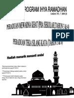 Poster Ihya Ramadhan