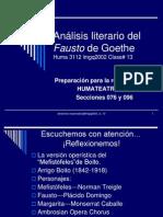 An Lisis Literario Del Fausto de Goethe Cl.13