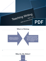 Teaching of Writing in ESL class