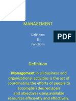 Management - Definition & Funtions