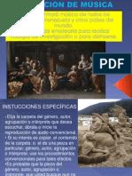 SECCIÓN DE MÚSICA