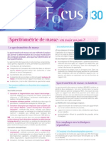 30 Focus Spectrometrie de Masse