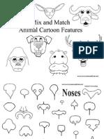 Animal Mix and Match Sheets