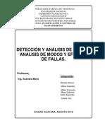 Deteccion y Analisis Fallas Analisis Modos y Efectos Fallas