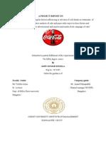 Coca Cola market research report